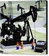 Lego Oil Pumpjacks Canvas Print