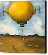Lemon Drops Canvas Print by Leah Saulnier The Painting Maniac
