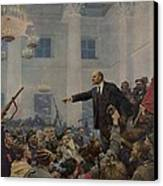 Lenin 1870-1924 Declaring Power Canvas Print by Everett