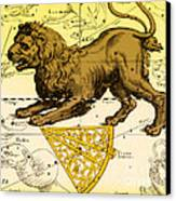 Leo, The Hevelius Firmamentum, 1690 Canvas Print by Science Source