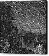 Leonid Meteor Shower, 1833 Canvas Print by Granger