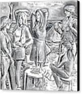 Les Demoiselles V1 Canvas Print by Susan Cafarelli Burke