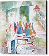 Les Voiliers Jardin Du Luxembourg Canvas Print