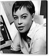 Leslie Caron, Ca. 1950s Canvas Print