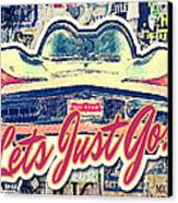 Let's Just Go Canvas Print by Mo T