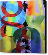 Letterforms 1 Canvas Print