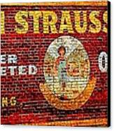Levi Strauss Canvas Print by Randall Weidner
