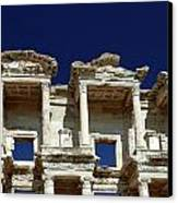 Library Of Celsus In Ephesus Canvas Print by Sally Weigand