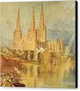 Lichfield Canvas Print by Joseph Mallord William Turner