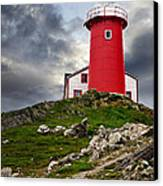 Lighthouse On Hill Canvas Print