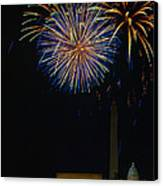 Lighting Up The National Mall Canvas Print