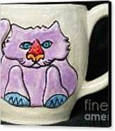 Lightning Nose Kitty Mug Canvas Print