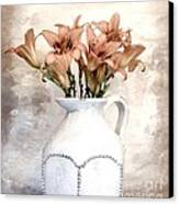 Lilies Pitcher Canvas Print