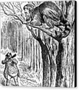 Lincoln Cartoon, 1862 Canvas Print by Granger