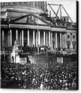 Lincoln Inauguration, 1861 Canvas Print by Chicago Historical Society