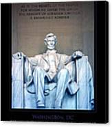 Lincoln Memorial Canvas Print by Jim McDonald Photography