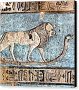 Lion At Dendera, Egypt Canvas Print by Joe & Clair Carnegie / Libyan Soup