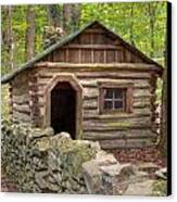 Little Cabin On Little River Canvas Print by Charles Warren