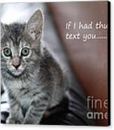Little Kitten Greeting Card Canvas Print by Micah May