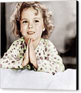 Little Miss Marker, Shirley Temple, 1934 Canvas Print