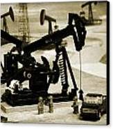 Little Pumpjacks Canvas Print by Ricky Barnard