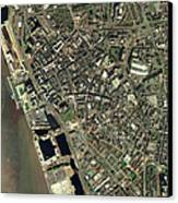 Liverpool, Uk, Aerial Image Canvas Print