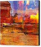 Living Abroad Is A Trip Canvas Print by Fania Simon
