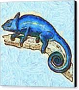 Lizzie Loved Lizards Canvas Print by Nikki Marie Smith