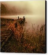 Loch Ard Early Morning Mist Canvas Print by John Farnan