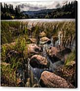 Loch Ard From The Reed Beds Canvas Print by John Farnan