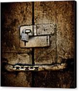 Locked Door Canvas Print by Bobbi Feasel