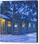 Log Cabin Library 1 Canvas Print