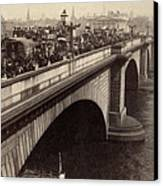 London Bridge - England - C 1896 Canvas Print by International  Images