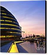 London City Hall At Night Canvas Print
