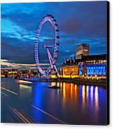 london Eye Nightscape Canvas Print by Arthit Somsakul