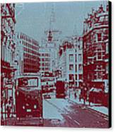 London Fleet Street Canvas Print by Naxart Studio