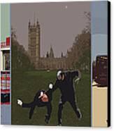 London Matrix Triptych Canvas Print by Jasna Buncic