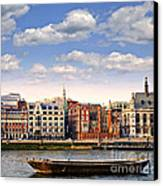 London Skyline From Thames River Canvas Print by Elena Elisseeva