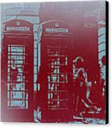 London Telephone Booth Canvas Print by Naxart Studio