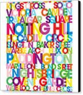 London Text Bus Blind Canvas Print by Michael Tompsett