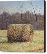 Lone Haybale Canvas Print