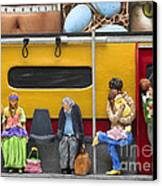 Lonely Travelers - Crop Of Original - To See Complete Artwork Click View All Canvas Print by Anne Klar
