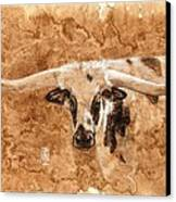 Long Horns Canvas Print by Debra Jones