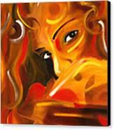 Looking Over Her Shoulder Canvas Print by Hakon Soreide