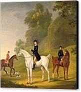Lord Bulkeley And His Harriers Canvas Print by Francis Sartorius