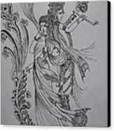 Lord Krishna Canvas Print by Aditya Sarawagi