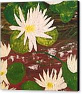 Lotus Flowers Canvas Print by Pretchill Smith