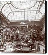 Lounge At The Plaza Hotel Canvas Print by Henry Janeway Hardenbergh