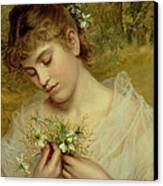 Love In A Mist Canvas Print by Sophie Anderson