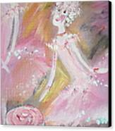 Love Rose Ballet Canvas Print by Judith Desrosiers